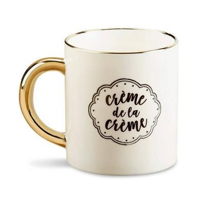 """16oz """"Crème de la Crème"""" Mug Gold"""