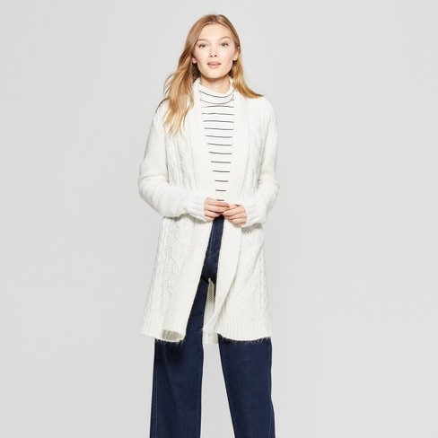 Women's Cable Open Cardigan - A New Day™ - image 1 of 3