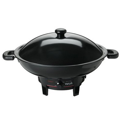 Aroma 7-qt. Electric Wok with Heavy-Duty, Nonstick Body and Lid