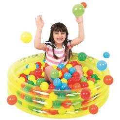 """""""Pool Central 36"""""""" Inflatable Children's Play Pool Ball Pit - Transparent Yellow"""""""