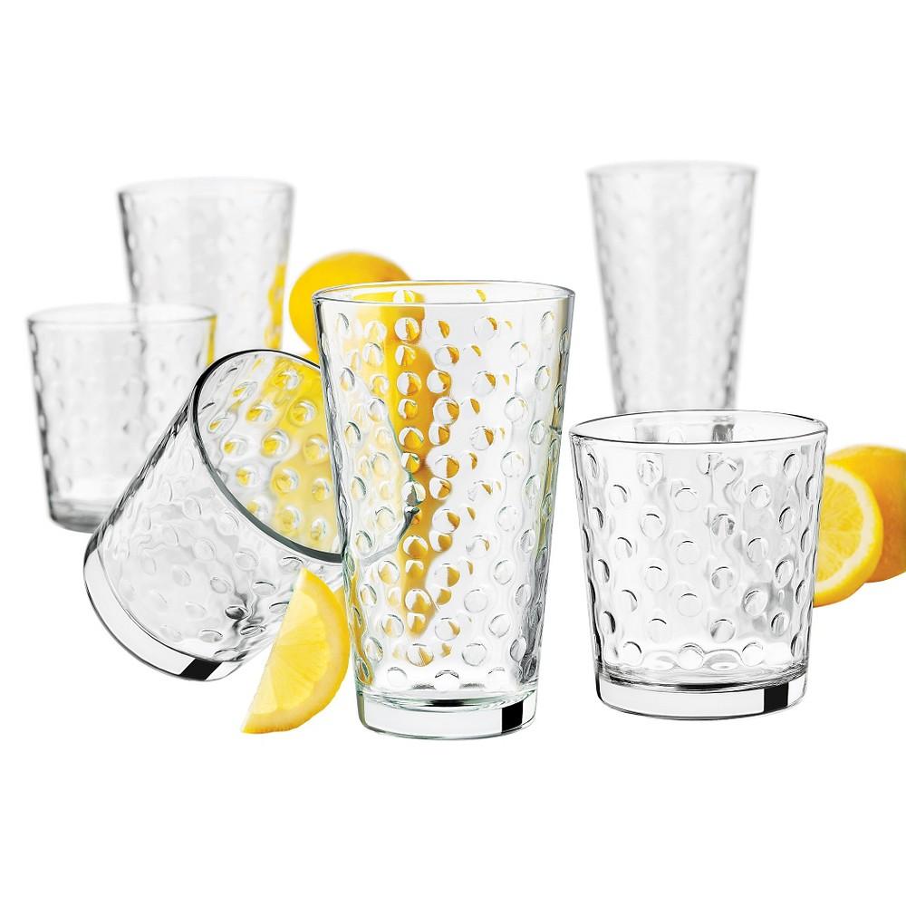 Image of Libbey Awa Glass Drinkware 16pk Set (eight- 13oz , eight- 16oz ), Clear