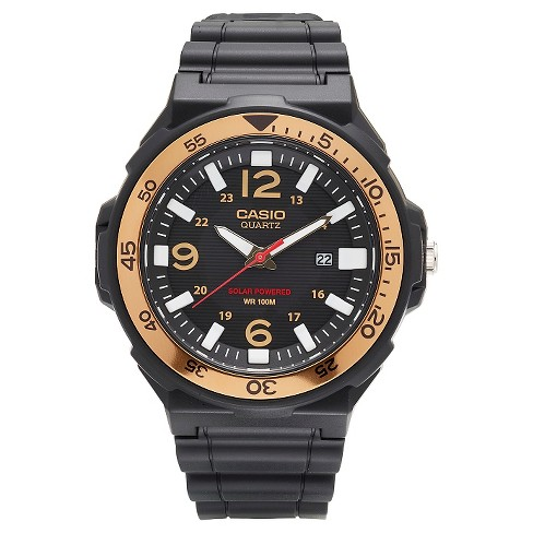 Men's Casio Solar-Powered Watch - Black - image 1 of 2