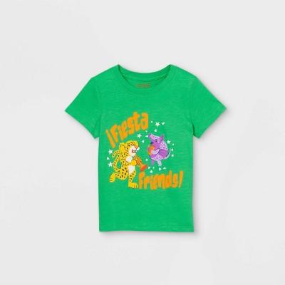 Toddler Boys' 'Fiesta Friends' Knit Graphic Short Sleeve T-Shirt - Cat & Jack™ Green