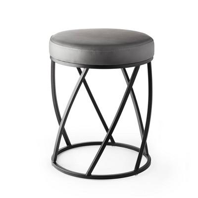 Twist Vanity Seat Matte Black/Gray - Better Living Products