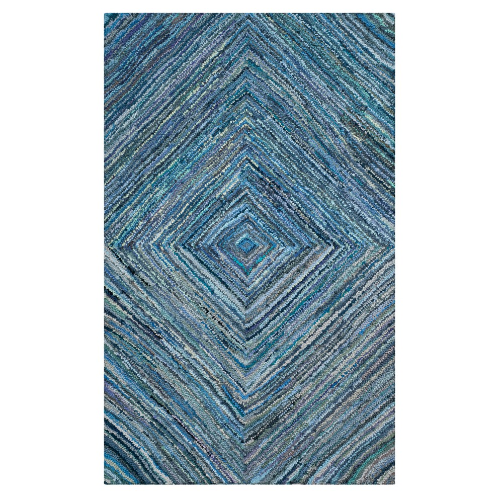 Blue Swirl Tufted Area Rug 5'X8' - Safavieh