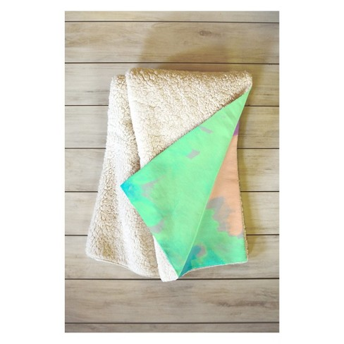 "60""x50"" Rebecca Allen Some Kind Of Wonderful Fleece Throw Blanket Green - Deny Designs - image 1 of 2"