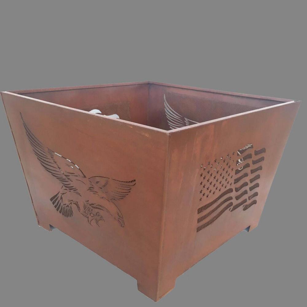 Image of Laser Cut Eagle Fire Basket - Esschert Design