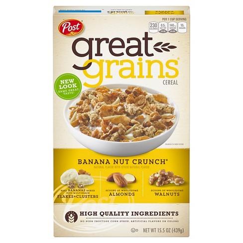 Great Grains Banana Nut Crunch Breakfast Cereal - 15.5oz - Post - image 1 of 4