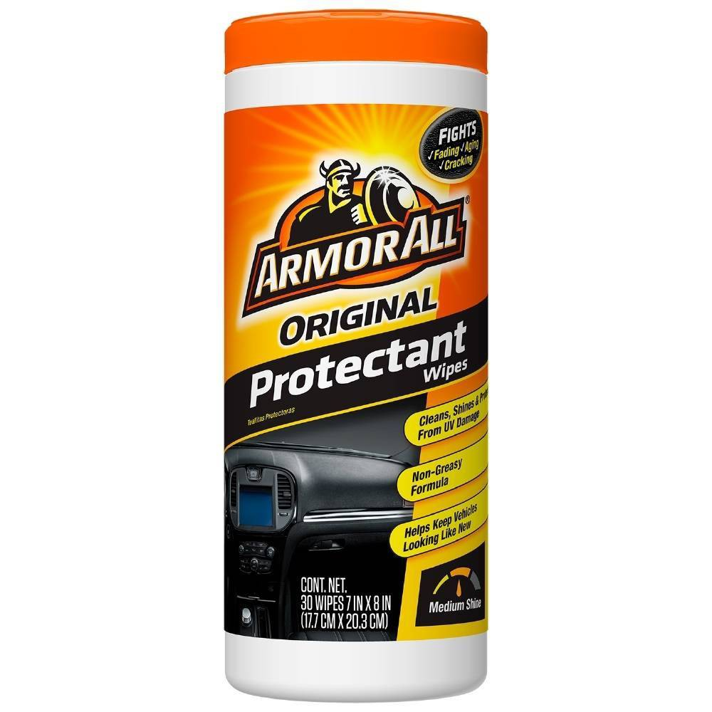 Armor All 30ct Original Protectant Wipes Automotive Protector