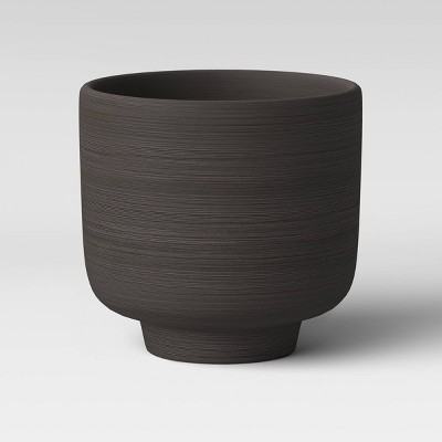 "6"" Footed Planter Charcoal Black - Project 62™"