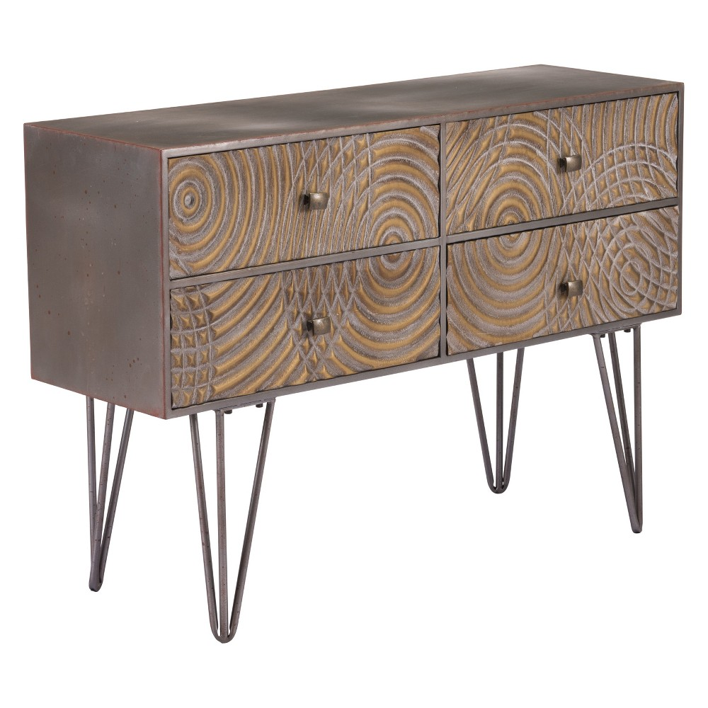 39 Retro Modern Rectangular Console Table - Brown - ZM Home