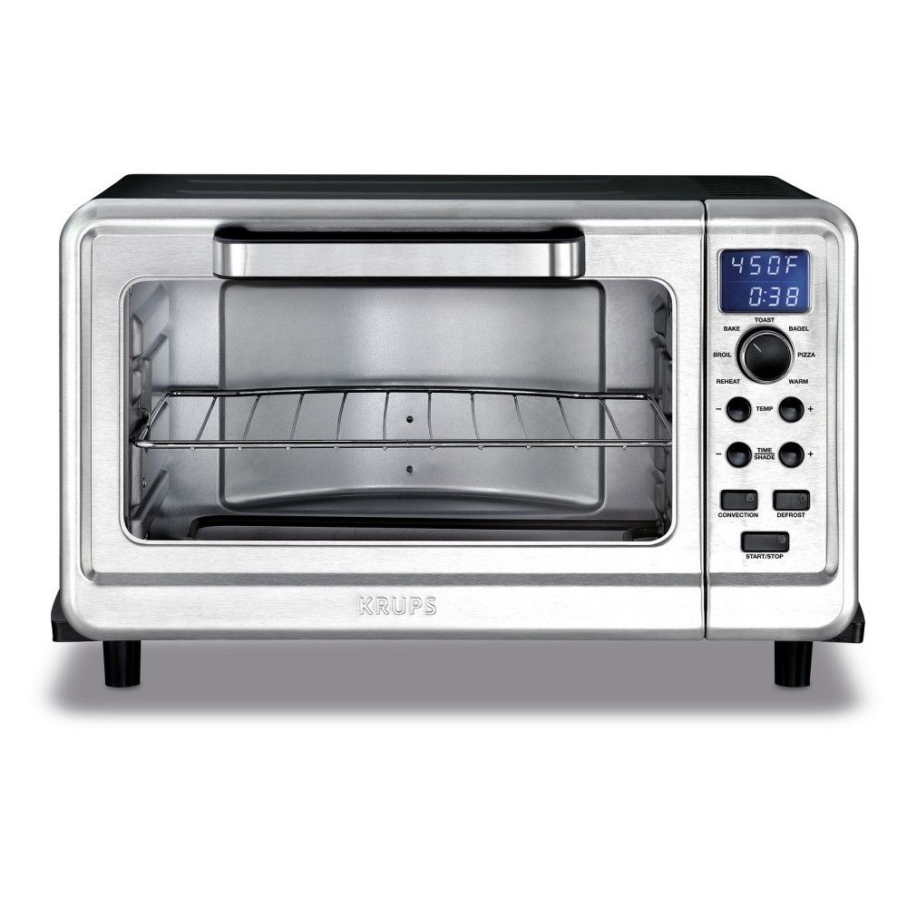 Krups 6-Slice Convection Toaster Oven, Silver