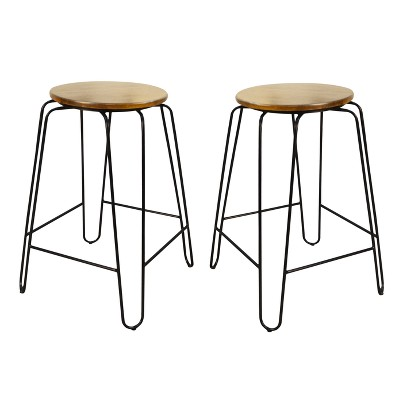 "Set of 2 24"" Winston Counter Height Barstools - Carolina Chair & Table"
