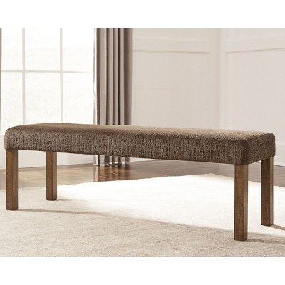 Tamilo Large Upholstered Dining Room Bench   Wood/Dark Brown   Signature  Design By Ashley : Target