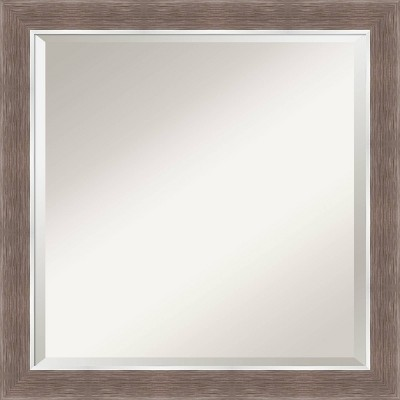 "24"" x 24"" Noble Mocha Framed Bathroom Vanity Wall Mirror - Amanti Art"