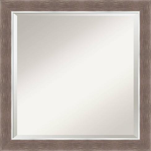 24 X 24 Noble Mocha Framed Bathroom Vanity Wall Mirror Amanti Art Target