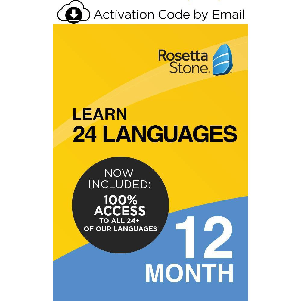 Rosetta Stone Unlimited 12 Months Electronic Software Download