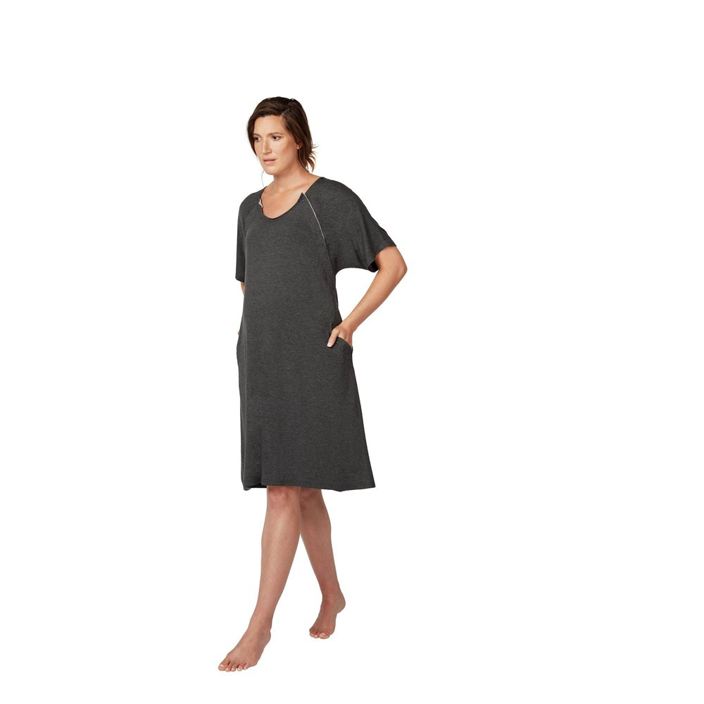 Image of Frida Mom Delivery and Nursing Gown, Size: Small, Gray