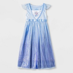 Toddler Girls' Frozen Elsa Night Gown - Blue