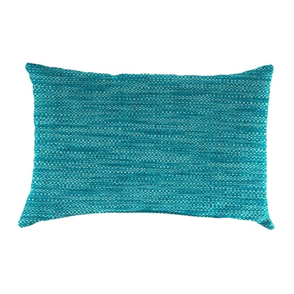 Outdoor Throw Pillow Set Jordan Manufacturing Lagoon Turquoise