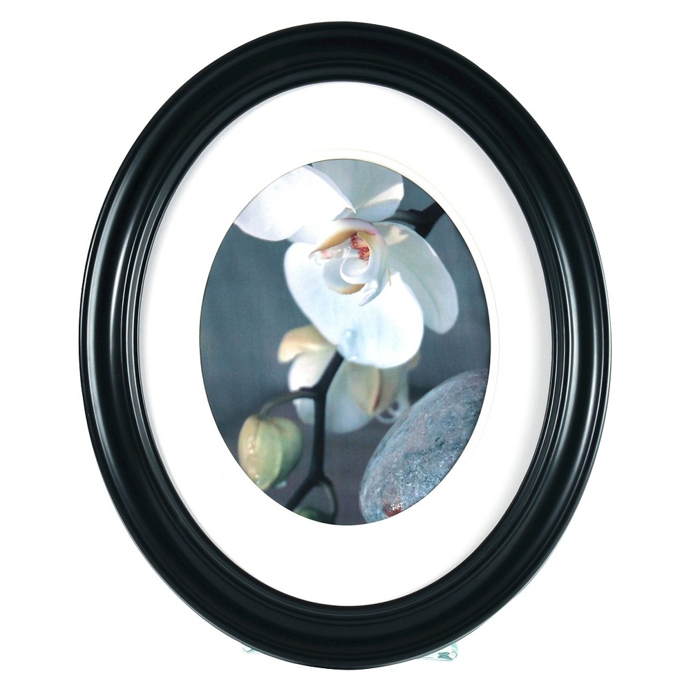 Image of Gallery Solutions Oval Frame - Black
