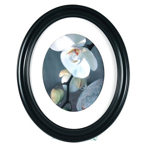 """8"""" x 10"""" Oval Frame Black - Gallery Solutions - image 1 of 3"""