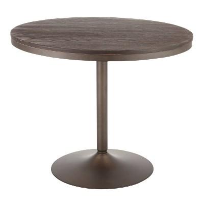"36"" Dakota Industrial Round Dining Table - LumiSource"