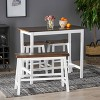 4pc Pomeroy Farmhouse Counter Dining Set - Christopher Knight Home - image 2 of 4