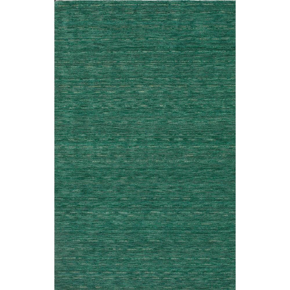 Tonal Solid 100% Wool Area Rug - Emerald (Green) (5'x7'6)