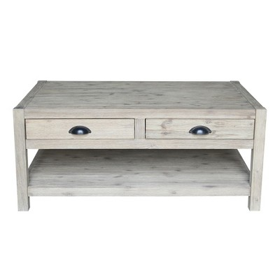 Modern Rustic Coffee Table Gray Wash   International Concepts : Target