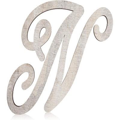 Rustic Wood Monogram Letter N (13 in.)