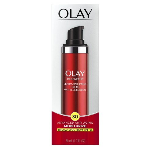 Olay Regenerist Micro Sculpting Cream Moisturizer With Sunscreen Broad Spectrum Spf 30 1 7 Fl Oz Target