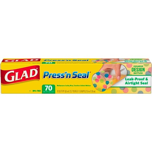 Glad Press'n Seal Plastic Food Wrap - Designer Series - 70 Square Foot Roll - image 1 of 5