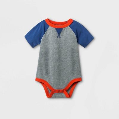 Baby Boys' Short Sleeve Bodysuit - Cat & Jack™ Gray