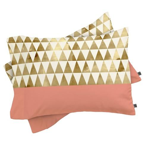 Georgiana Paraschiv Triangles Pillow Sham (Standard) 1pc - Deny Designs - image 1 of 2