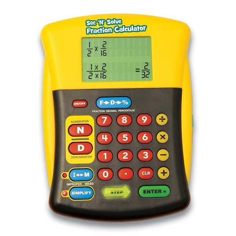 Educational Insights See & Solve Fraction Calculator - image 1 of 4