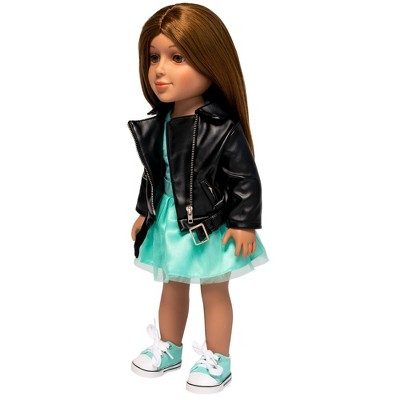 """I'M A GIRLY Lucy 18"""" Fashion Doll with Brown Interchangeable Wig to Style"""