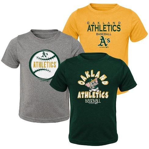 MLB Oakland Athletics Toddler Boys' Gray T-Shirt 3pk - image 1 of 4