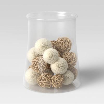 20pc Decorative Vase Filler Pom Pom Brown/White - Opalhouse™