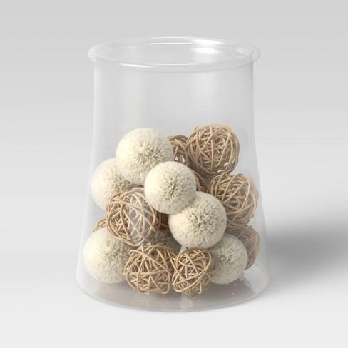 20pc Decorative Vase Filler Pom Pom Brown White Opalhouse Target