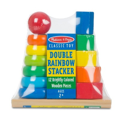 Melissa & Doug® Double Rainbow Stacker Wooden Educational Toy
