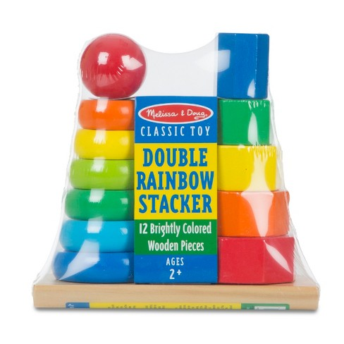 Melissa & Doug® Double Rainbow Stacker Wooden Educational Toy - image 1 of 2