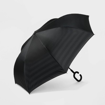 ShedRain Women's Striped Stick Umbrella - Black
