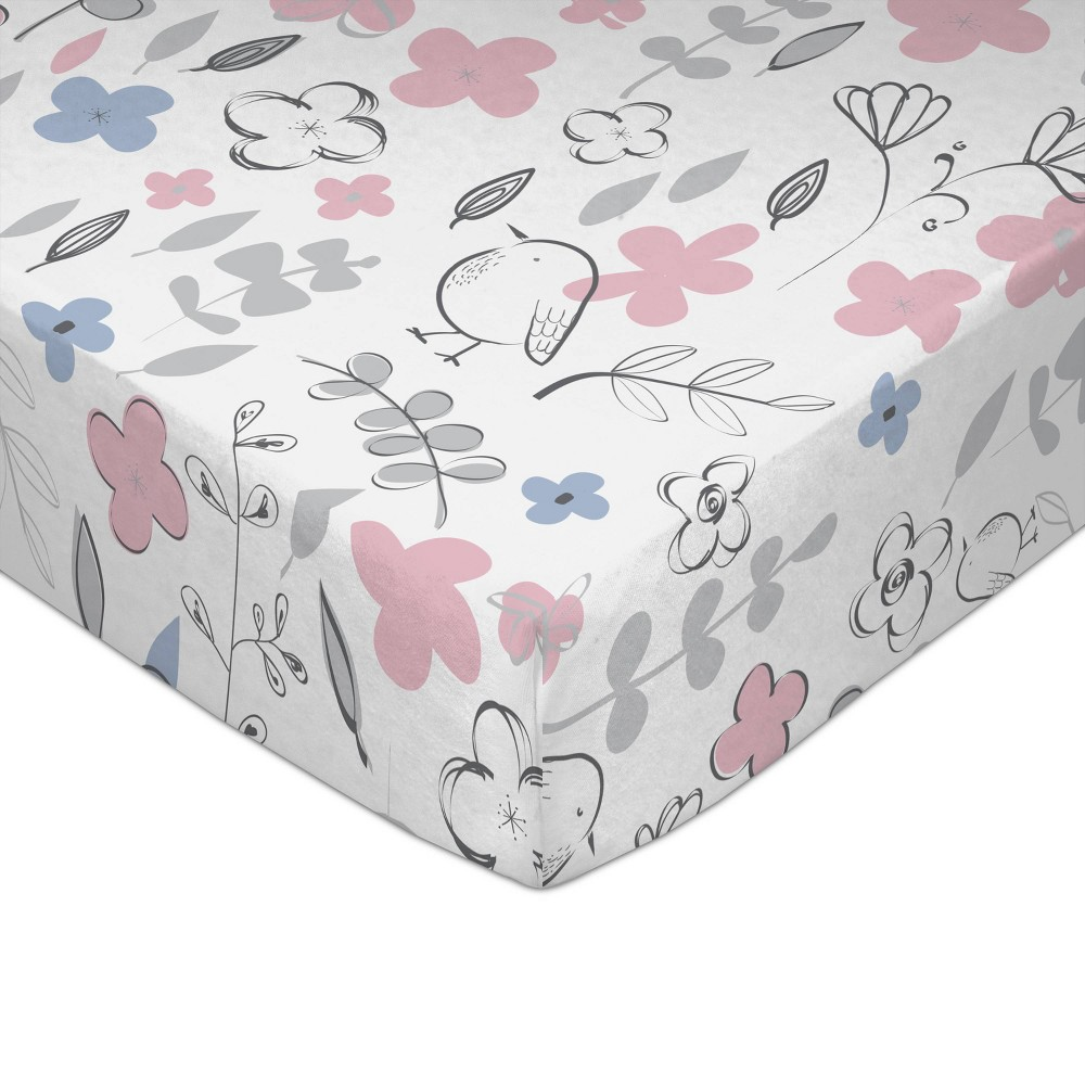 Image of Lolli Living Crib Baby Fitted Sheet - Mazie