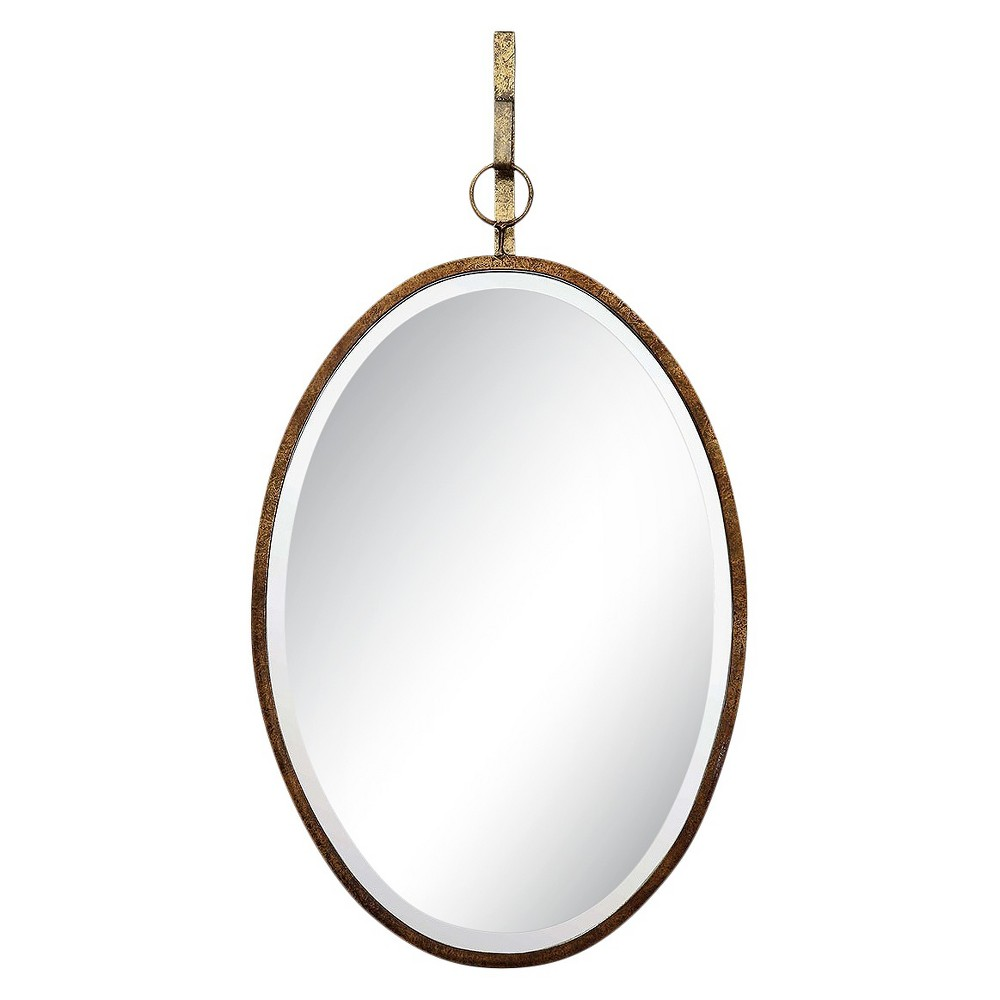 Image of Oval Decorative Wall Mirror with Bracket Bronze - 3R Studios