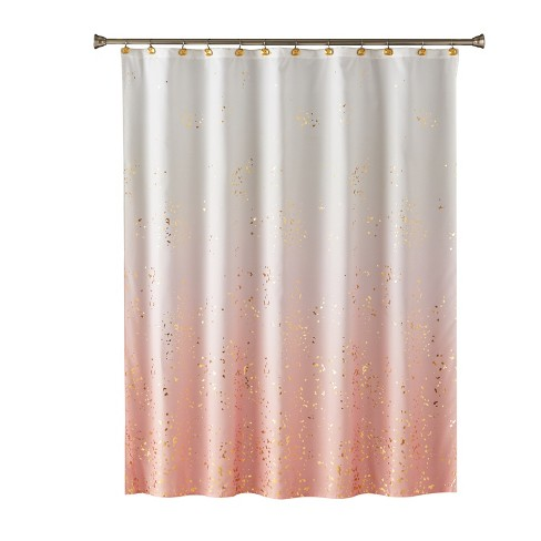 Splatter Shower Curtain Pink