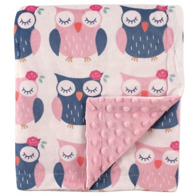 Hudson Baby Unisex Baby Plush Mink Blanket Owls - One Size