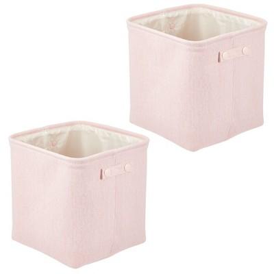 mDesign Cotton Fabric Bathroom Storage Organizer Bin