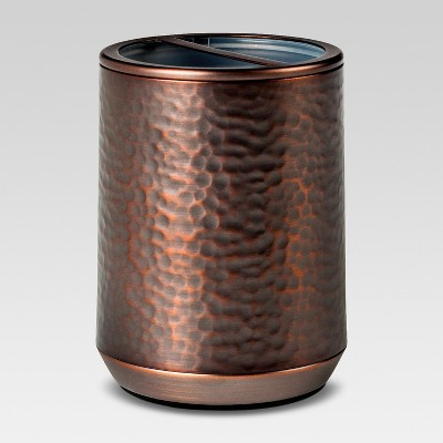 Toothbrush Holder Hammered Copper - Threshold™