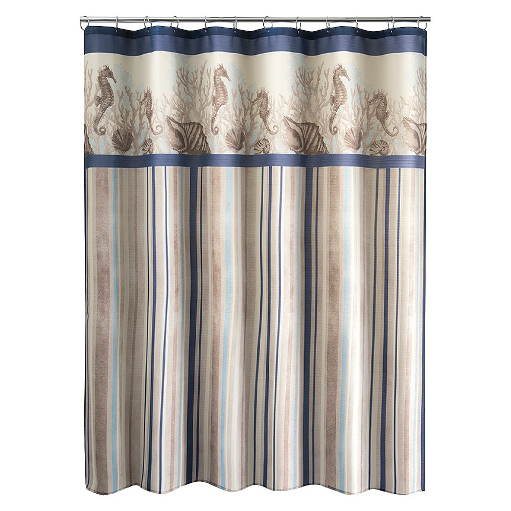 Folly Beach Stripe Shower Curtain, Multi-Colored